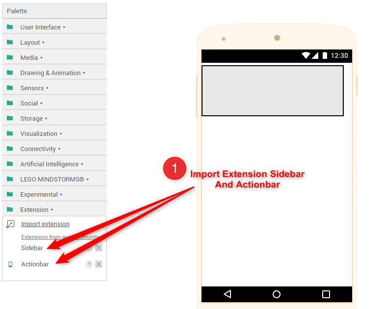 thunkable tutorial - How to make sidebar for android app in