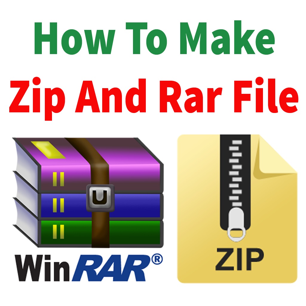 How to make zip file and rar file in windows 7 – step by step