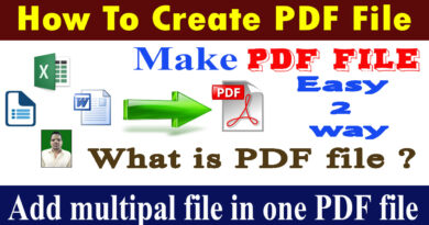What is a PDF file ? How to create a PDF file ? download PDF creator software free