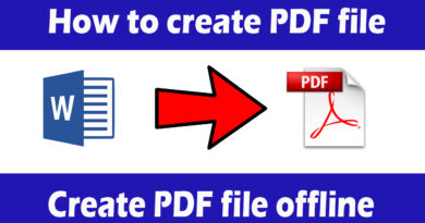How to create PDF file, create PDF file offline, PDF creator – Download