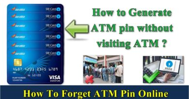 How to Generate ATM pin without visiting ATM ?